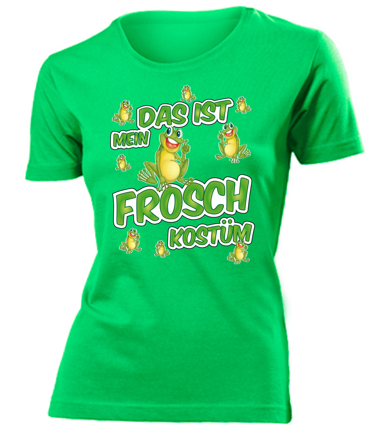 karnevals faschingskost m das ist mein frosch kost m t shirt damen s xxl ebay. Black Bedroom Furniture Sets. Home Design Ideas