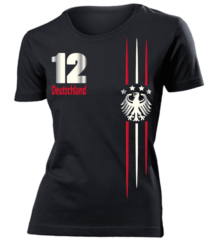 4 sterne fanshirt deutschland fussball wm 2018 t shirt damen s xxl ebay. Black Bedroom Furniture Sets. Home Design Ideas