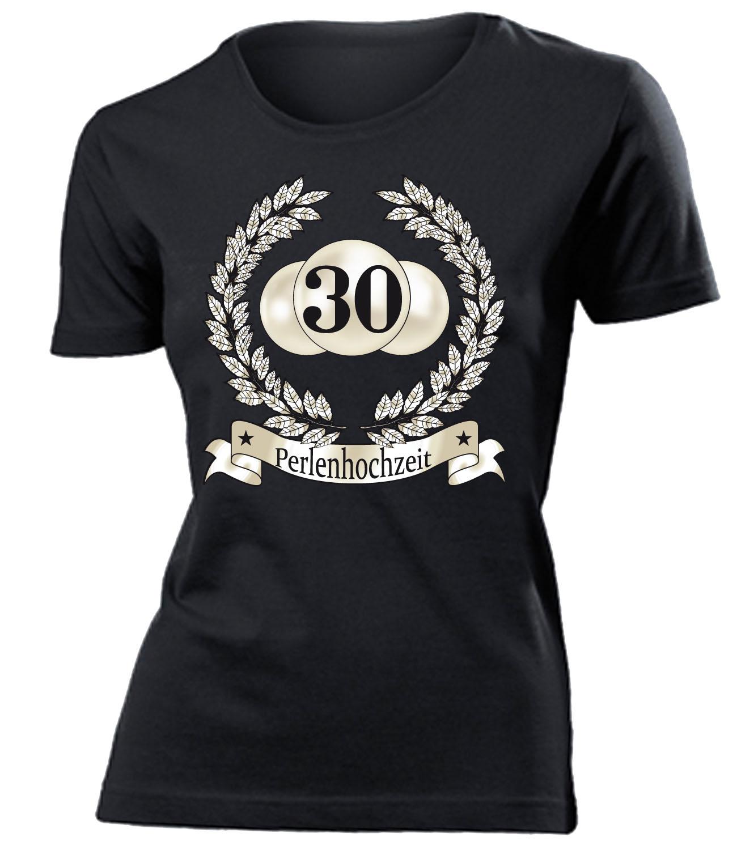 hochzeitstag - perlenhochzeit 30 jahre ehe t-shirt damen s-xxl | ebay