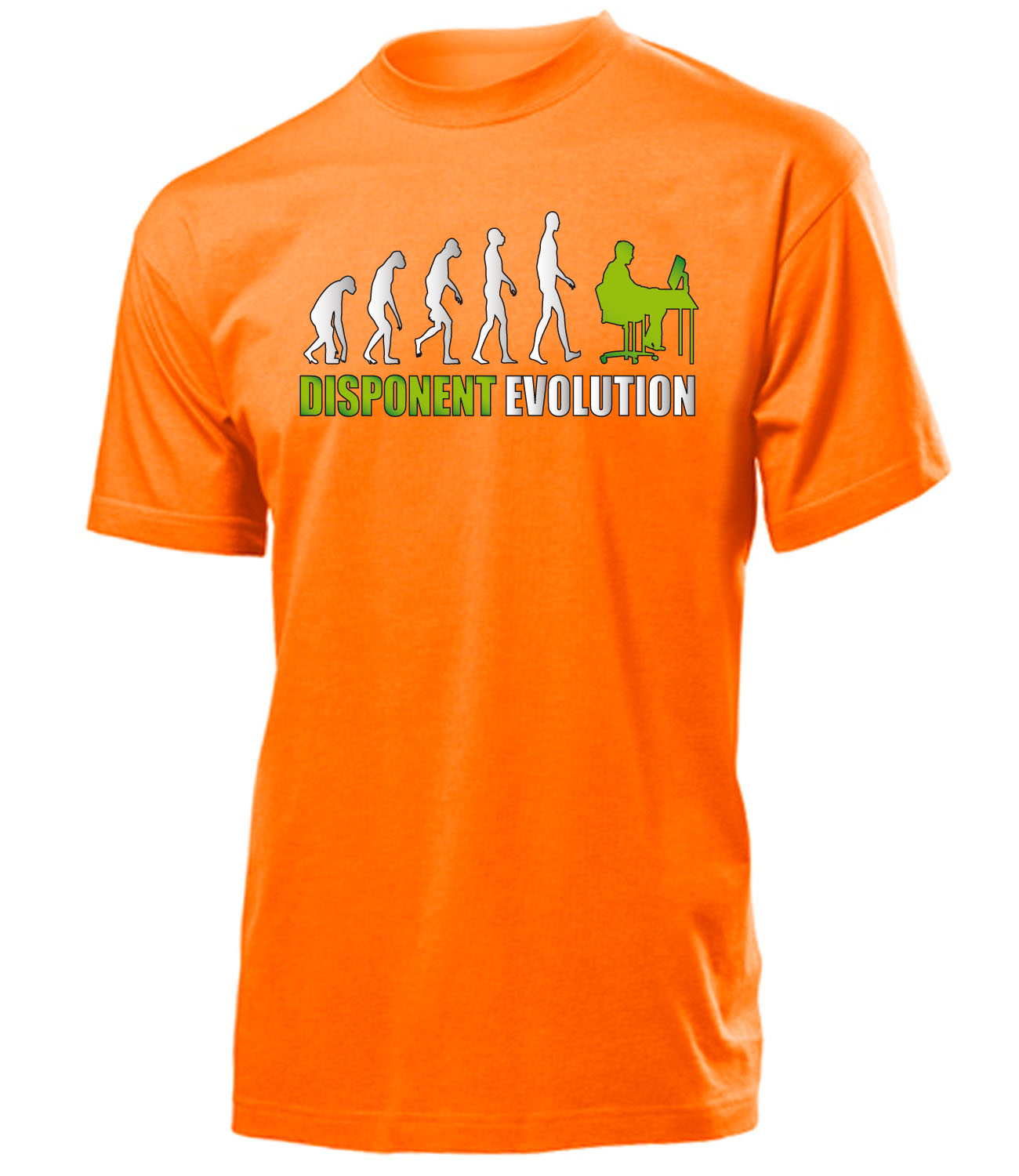 disponent evolution t shirt herren s xxl ebay. Black Bedroom Furniture Sets. Home Design Ideas