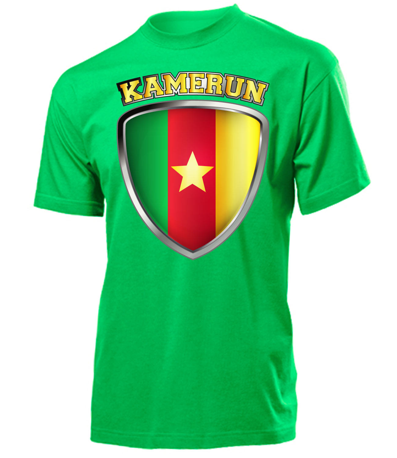 fussball fanartikel wm 2018 kamerun fanshirt t shirt. Black Bedroom Furniture Sets. Home Design Ideas