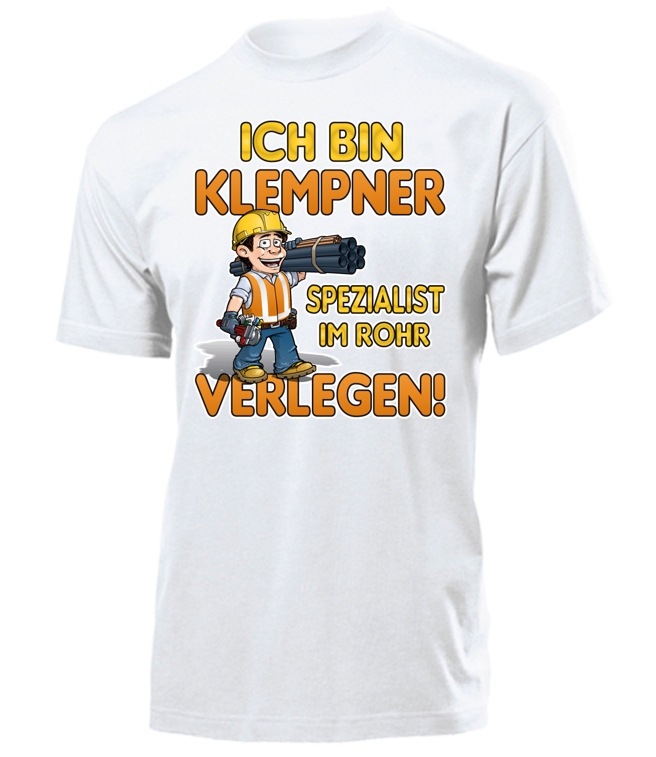 handwerker ich bin klempner spezialist im rohr verlegen t shirt herren s xxl ebay. Black Bedroom Furniture Sets. Home Design Ideas