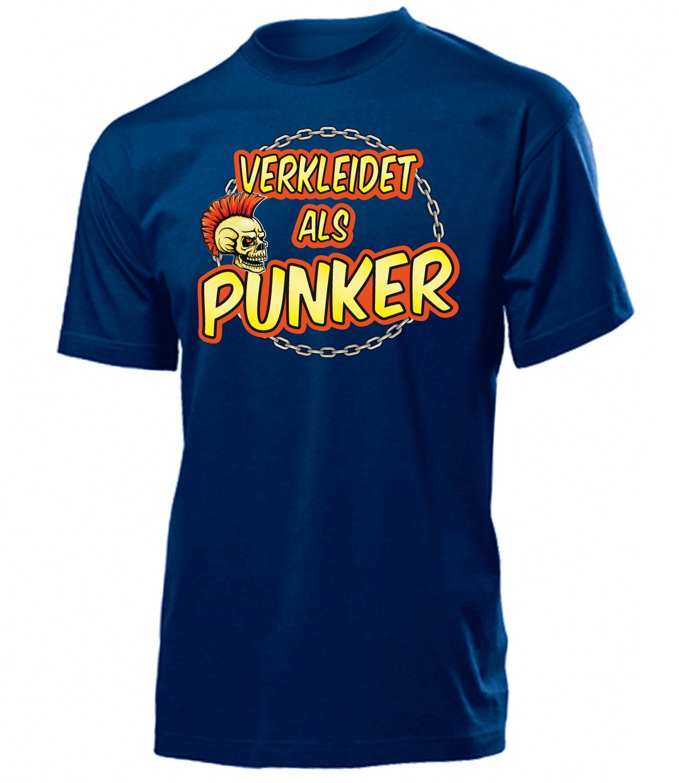 CARNEVALE-CARNEVALE-travestito come Punk T-Shirt Uomo S-XXL