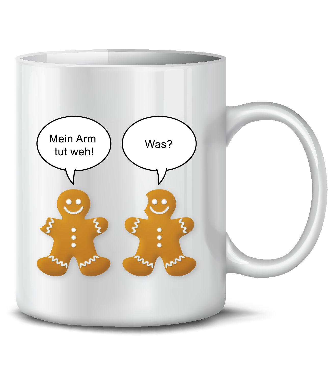 WEIHNACHTEN - MEIN ARM TUT WEH! WAS? KaffeeBecher - Teetasse | EBay