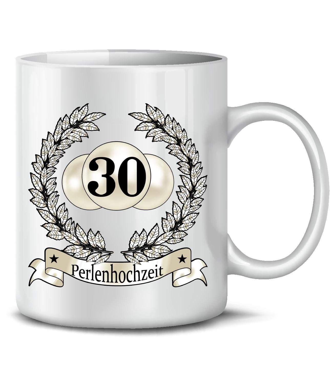 HOCHZEITSTAG - PERLENHOCHZEIT 30 JAHRE EHE KaffeeBecher